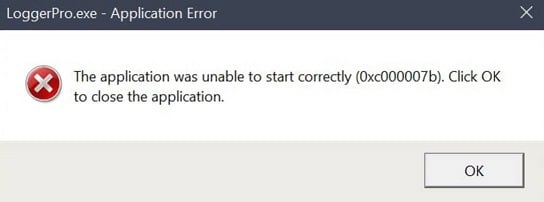 Logger Pro/Logger Lite gives an error about mfc140u dll or